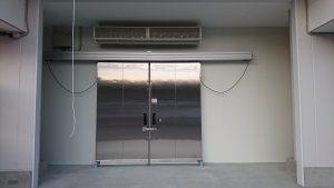 床上工事防熱扉+エアカーテン連動