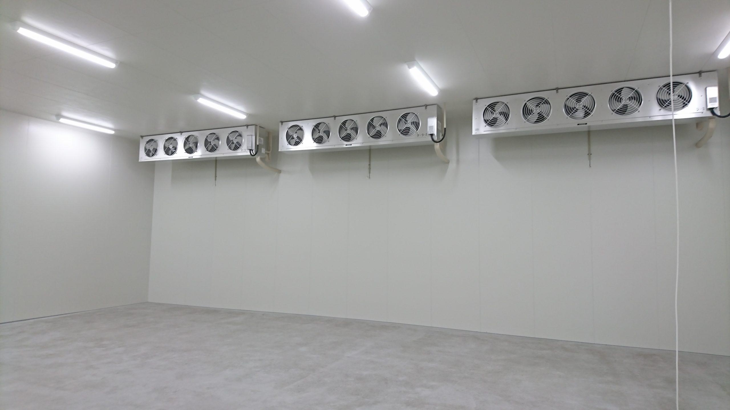 冷凍倉庫内部完了