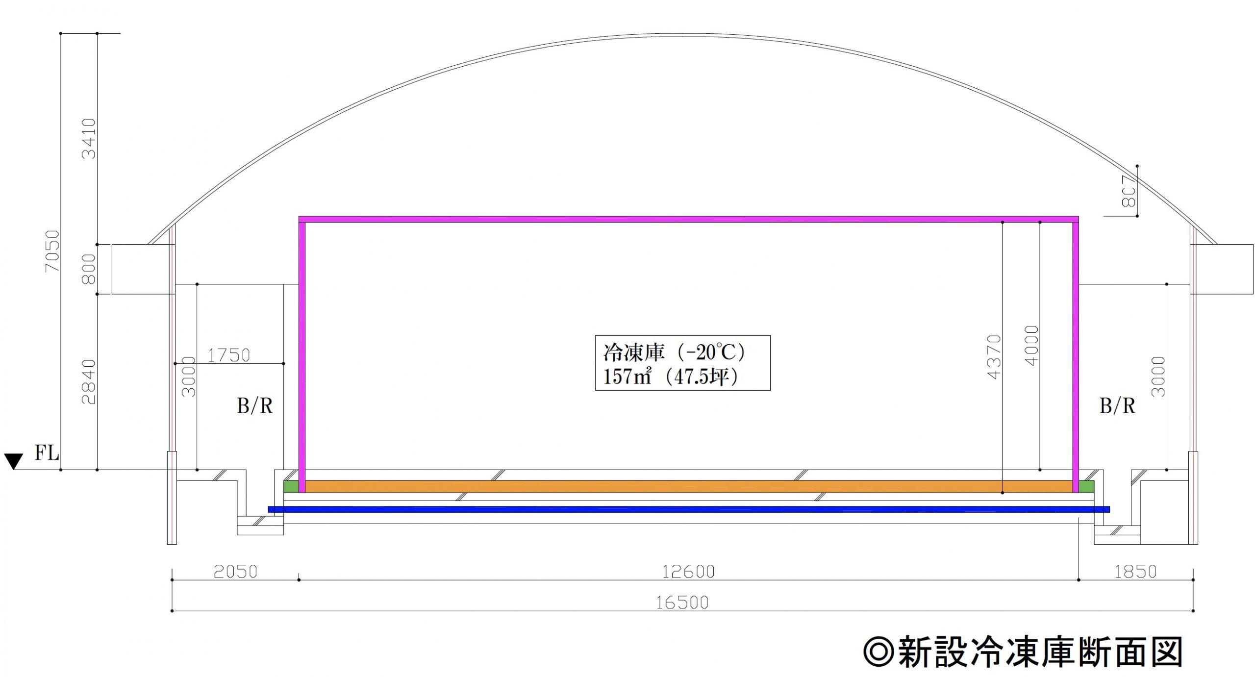 新設冷凍庫平面図