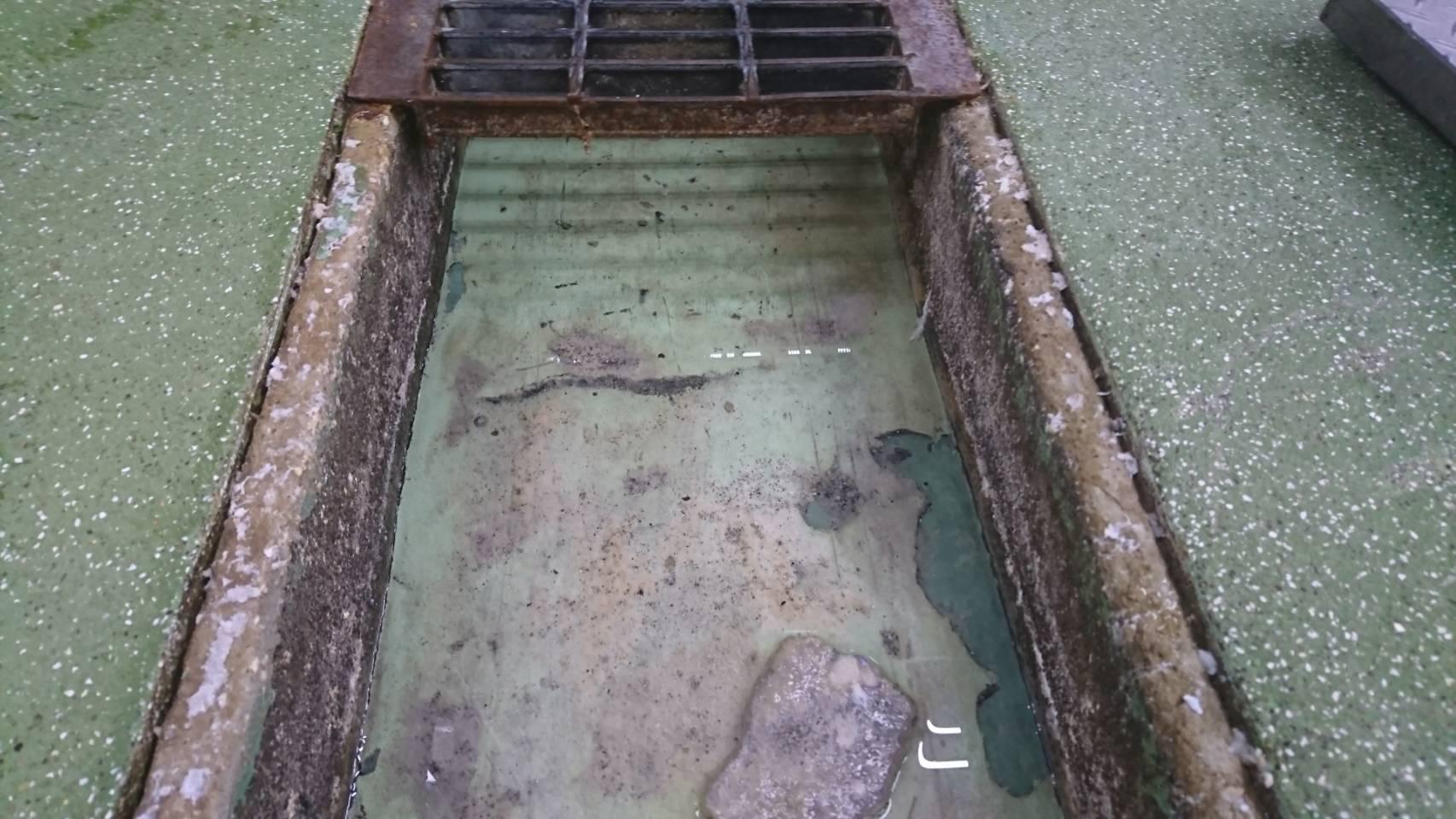 排水溝改修前状況