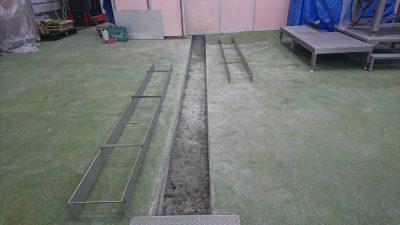 排水解体後・ステンレス枠