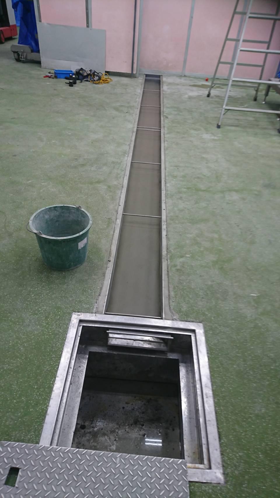 排水底モルタル仕上げ