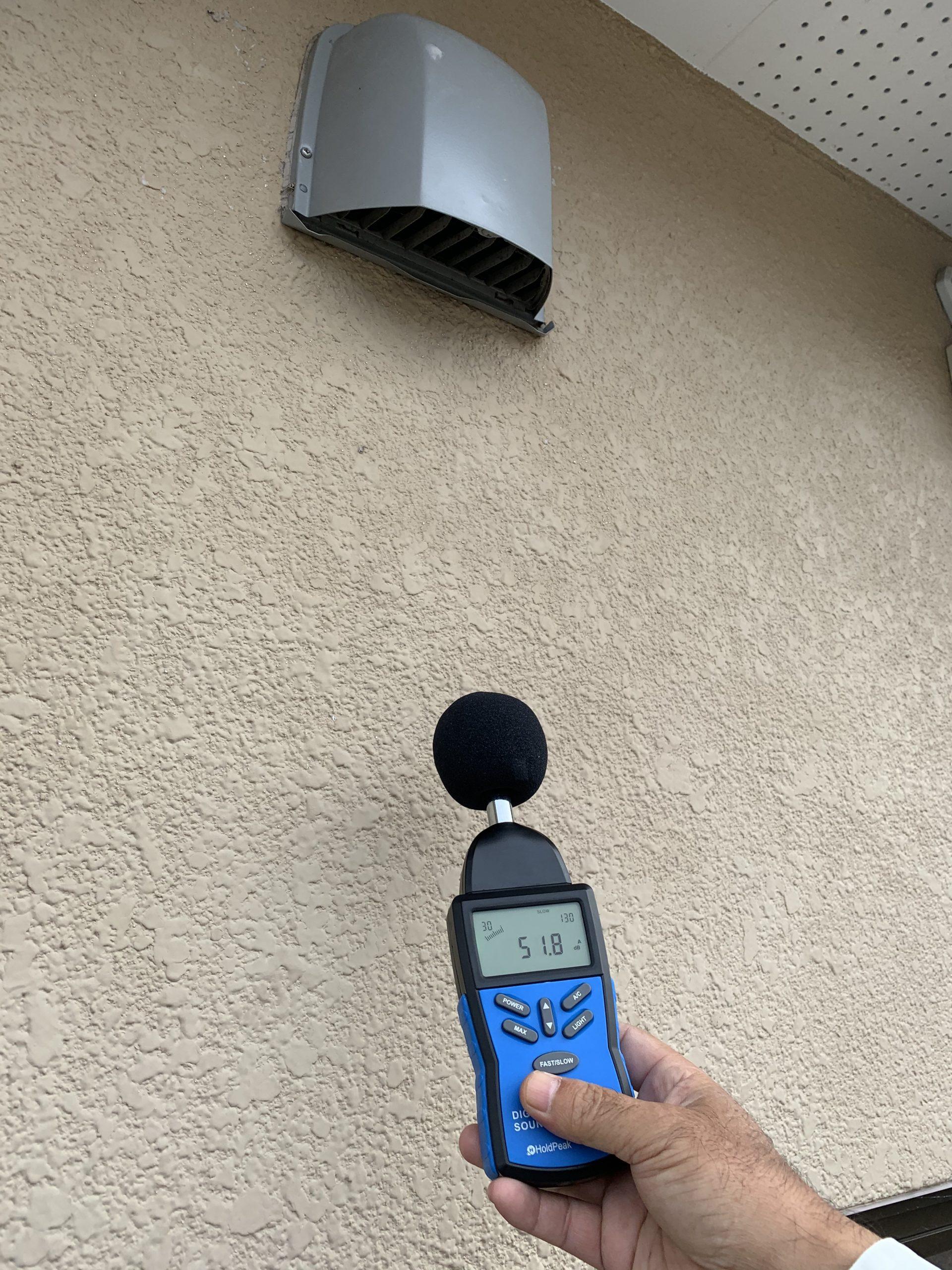建物排気口 EA 51.8dB(ドラム)