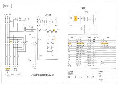 防熱扉制御盤配線図
